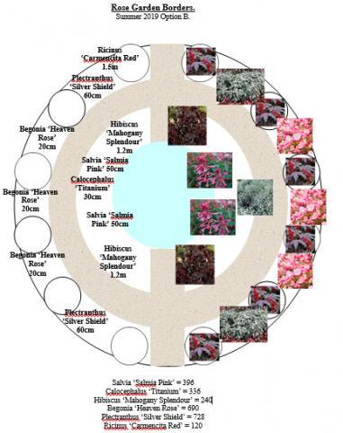 Diagram of Rose garden Border proposal