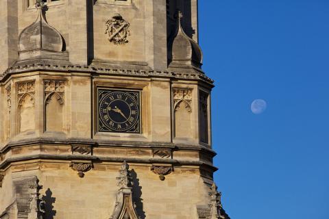 Moon behind Tom Tower
