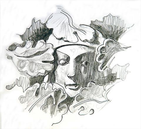 Pen Portrait of St Frideswide by Jim Godfrey