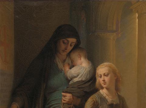 Andrea Mantegna 'A Sibyl and a Prophet' [Public Domain]